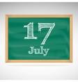 July 17 day calendar school board date vector