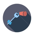 Key flat icon vector