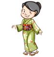 An asian wearing a dress vector