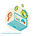 Isometric design modern concept of website vector