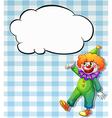 Clown bubble vector