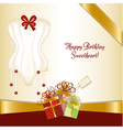Bridal shower greeting card vector