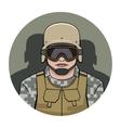 Swat policeman vector