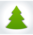 Christmas tree from cut paper vector