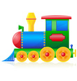 Children locomotive vector