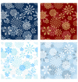 Set of seamless snowflake patterns vector