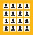 Men and women avatars vector