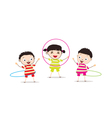 Kids playinghula hoop vector