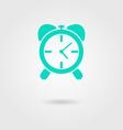 Alarm clock icon with shadow vector