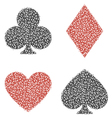Leaf playing card vector