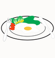 Omelet breakfast vector