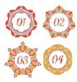 Vintage label options with floral design vector