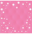 Happy valentines day greeting card on pink backg vector