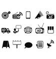 Advertisement icons set vector