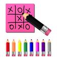 Set colored pencils vector
