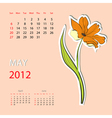 Calendar for 2012 may vector