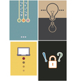 Layout cover design 4 type vector