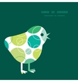 Abstract green circles chicken silhouette vector