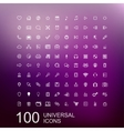 Set of 100 icons for web design vector