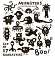 Set of funny monster characters vector