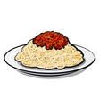 Italian spaghetti vector
