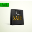 Black shopping bag sale concept vector