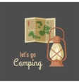 Hiking and camping vintage hipster poster vector