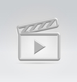 Silver video icon vector