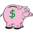Cartoon piggy bank vector