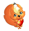 Squirrel and heart vector