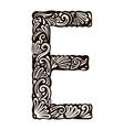 Floral font e vector