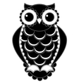 Silhouette patchwork owl vector