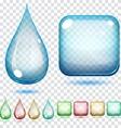 Transparent glass shapes vector