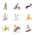 Extreme sports icons set vector