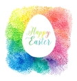 Greeting floral cards for easter vector