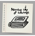 Book-cup doodle concept vector