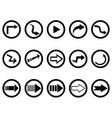 Arrow buttons set vector