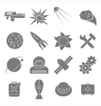 Icons space in flat style gray on white vector
