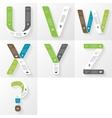 Font infographic diagram presentation letters u v vector