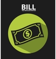 Bill icon vector