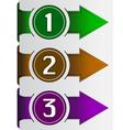Abstract web arrow in three color vector