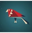 Colourful origami bird pigeon or dove vector