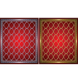 Gold and metal grids vector