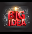Big idea concept with drawing charts and graphs vector