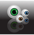 Glass eyeballs vector