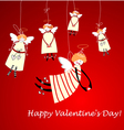 Happy valentines day angels vector