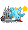 Balinese ganesha blue elephant vector