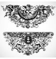 Baroque backgrounds vector