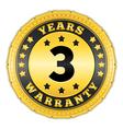 Three years warranty badge vector