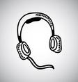 Headphones design vector